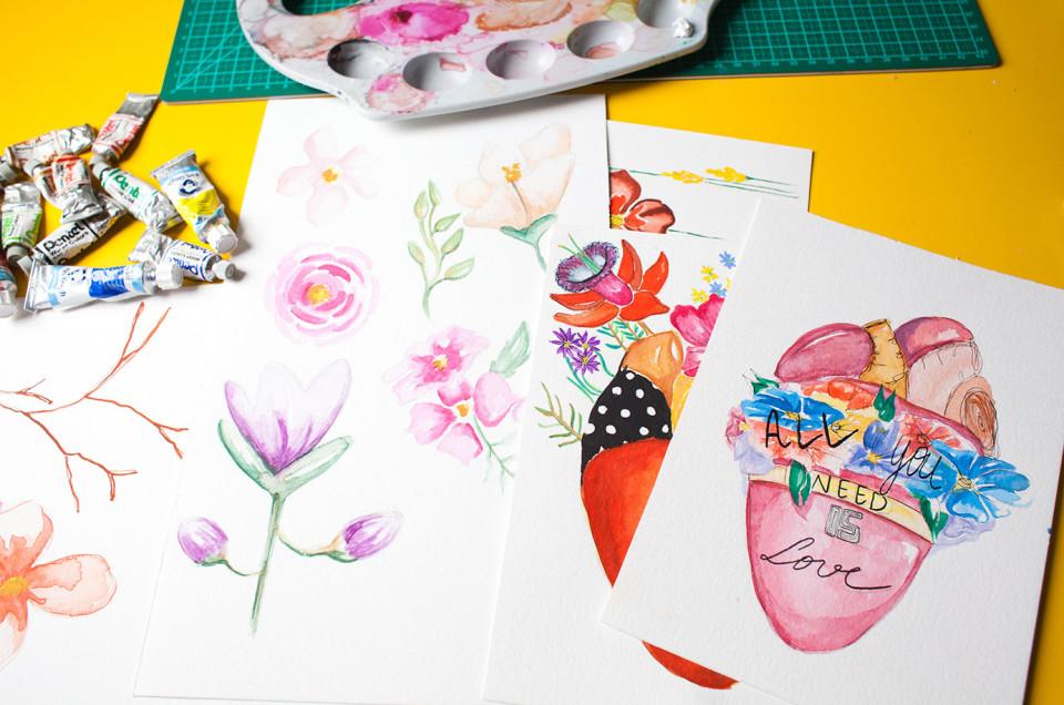 Moda e aquarela: como ser feliz exercendo duas paixões